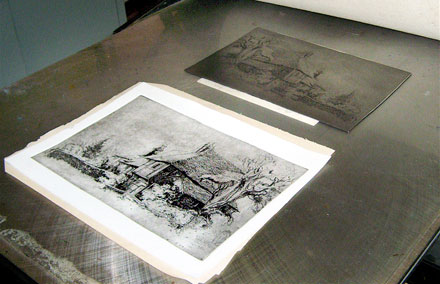 Etching result image